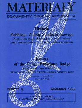 Materialy - By Jan Lors - The badge numbers of all members of the  1st Independent Polish Parachute Brigade