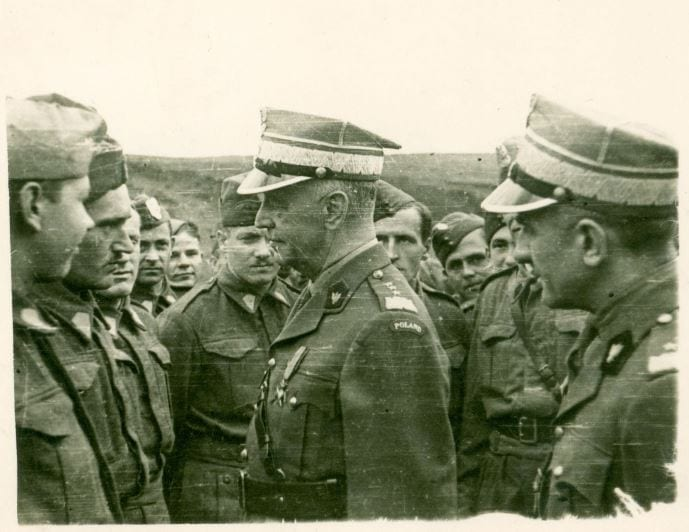 General Sikorski Inspecting Polish Air Squadron