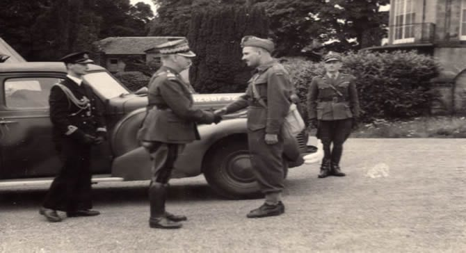 General Sosabowski and General Anders At Largo house 1941