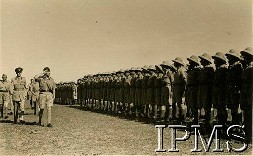 Poles In Middle East - Troop Inspection - Karta 2124