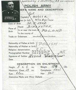 Polish Army Soldier Profile Record - Web