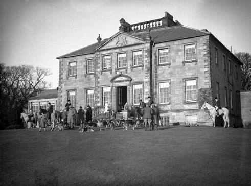 "The ""Fife Foxhounds"" meet at Largo House Pre-1940"