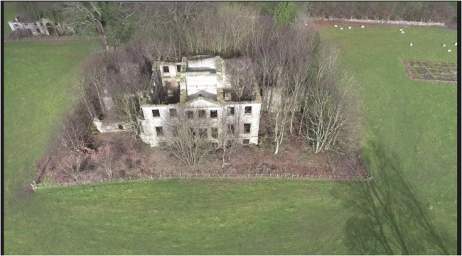 Aerial view of Largo House, Upper Largo