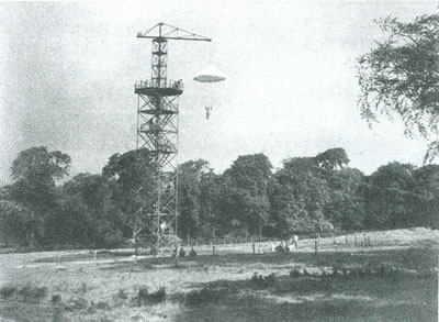 Polish Soldiers At Parachute Tower (Taken From Lundie Tower) - 400x293
